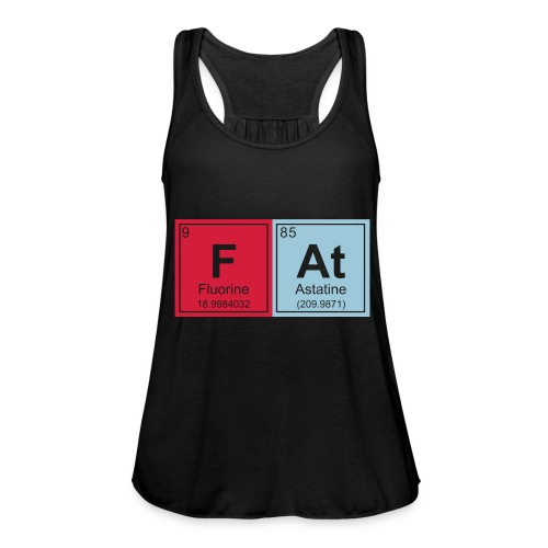 Geeky Fat Periodic Elements - Women's Tank Top by Bella
