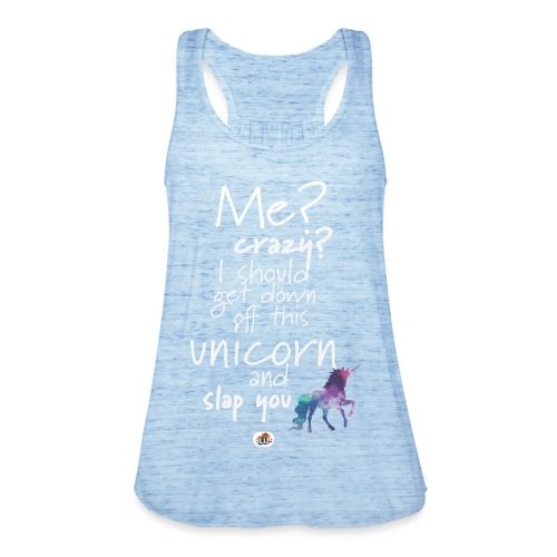 Crazy Unicorn - Light with picture - Women's Tank Top by Bella