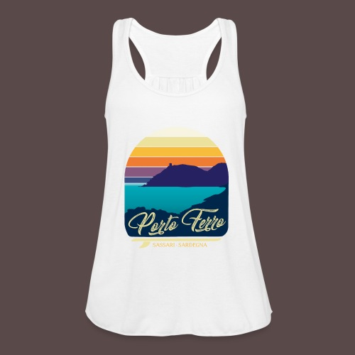 Porto Ferro - Vintage travel sunset - Top da donna della marca Bella