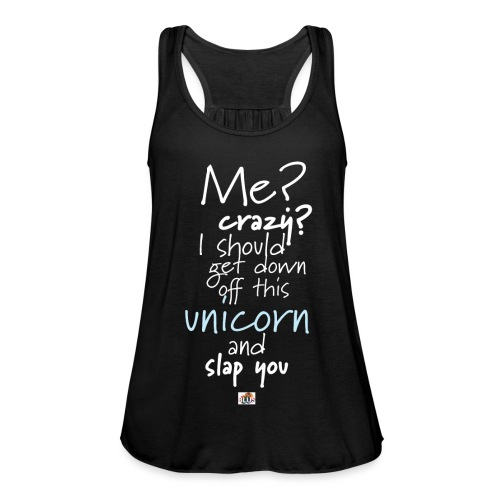 Crazy Unicorn - Dark - Women's Tank Top by Bella