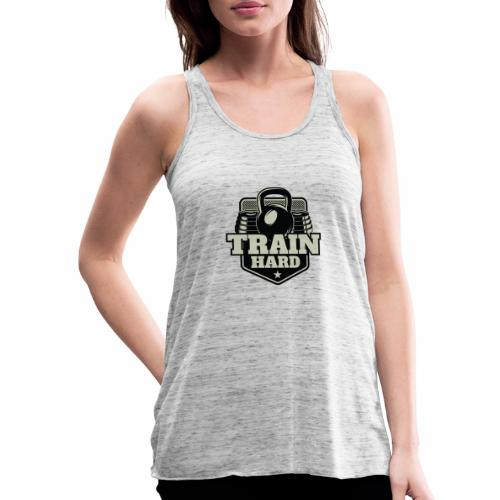 Train Hard - Federleichtes Frauen Tank Top