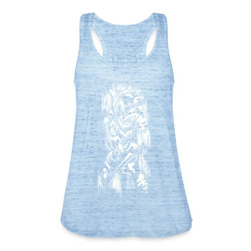 Samurai / White - Abstract Tatoo - Women's Tank Top by Bella