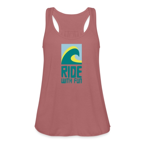 Ride with fun Logo - Federleichtes Frauen Tank Top