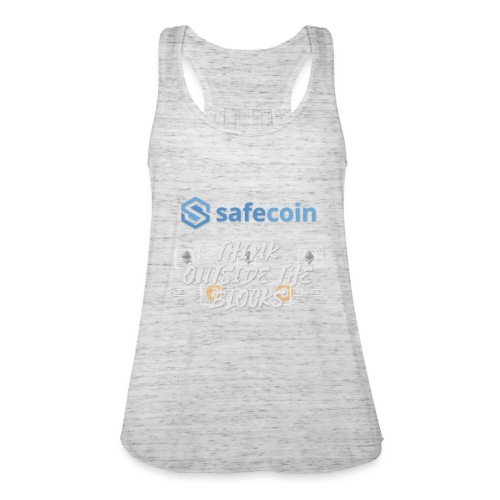 SafeCoin; Think Outside the Blocks (blue + white) - Women's Tank Top by Bella