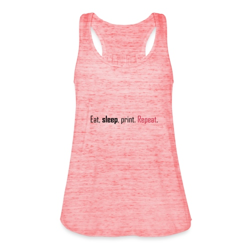 Eat, sleep, print. Repeat. - Featherweight Women's Tank Top