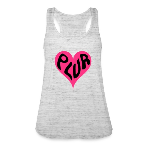 PLUR - Peace Love Unity and Respect love heart - Women's Tank Top by Bella