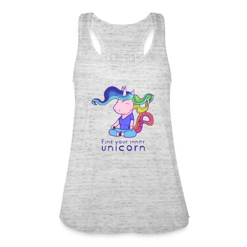 Yoga unicorn in the Lotus - Women's Tank Top by Bella