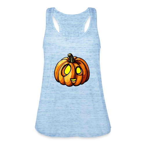 Pumpkin Halloween watercolor scribblesirii - Dame tanktop fra Bella