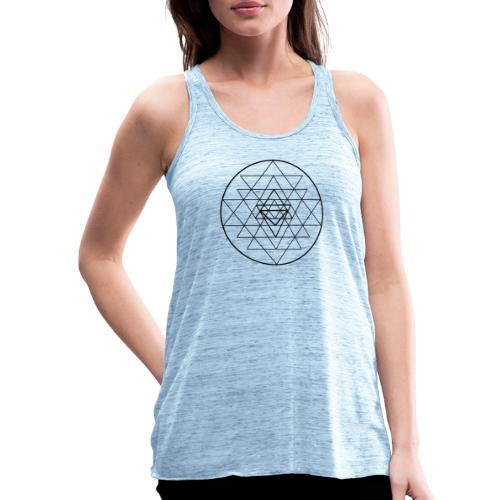 Sri Yantra - black and white - Dame tanktop fra Bella