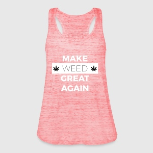 MAKE WEED GREAT AGAIN white - Women's Tank Top by Bella