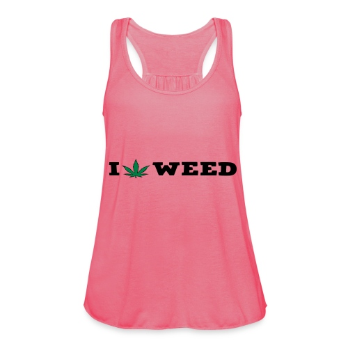 I LOVE WEED - Featherweight Women's Tank Top