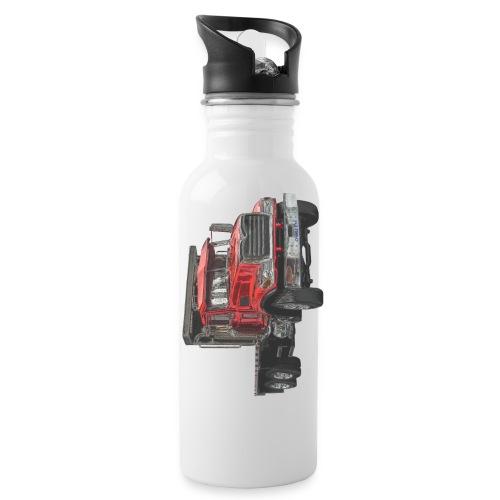 Flat Truck 3-axle - Red - Water Bottle
