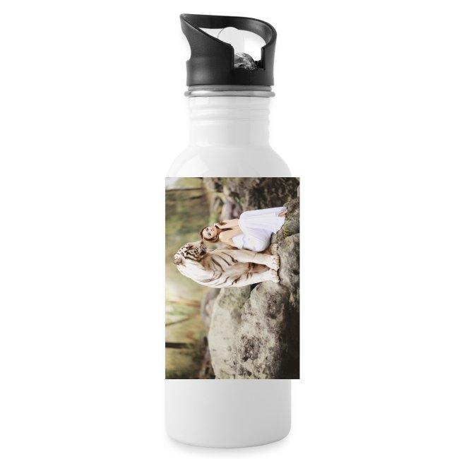 fantasy   weiser tiger - Trinkflasche