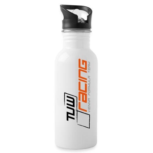 TUW Racing Logo Groß - Trinkflasche mit integriertem Trinkhalm