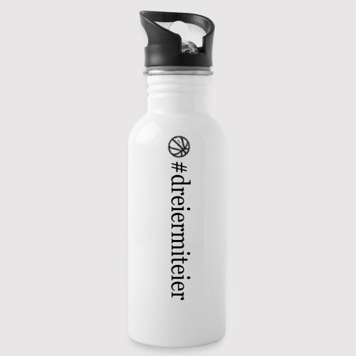 dreiermiteier Text schwar - Trinkflasche