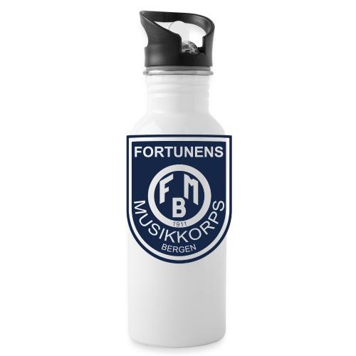 Fortunen logo - Drikkeflaske med integrert sugerør