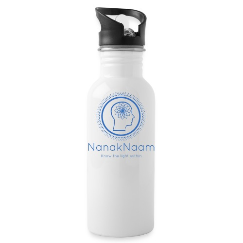 Nanak Naam Logo and Name - Blue - Water Bottle