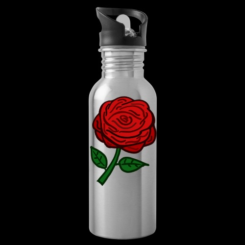 Rote Rose - Trinkflasche