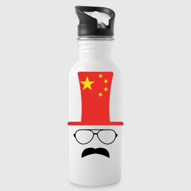 Chine le football drapeau chinois Hipster - Gourde