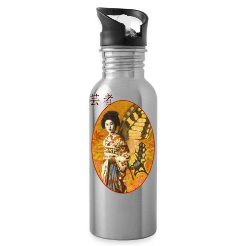 Vintage Japanese Geisha Oriental Design - Water Bottle