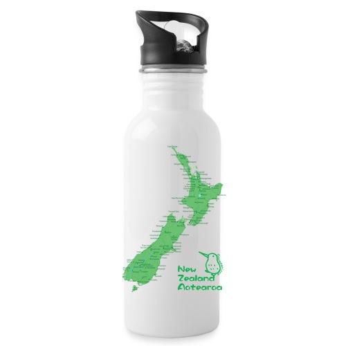 New Zealand's Map - Water Bottle