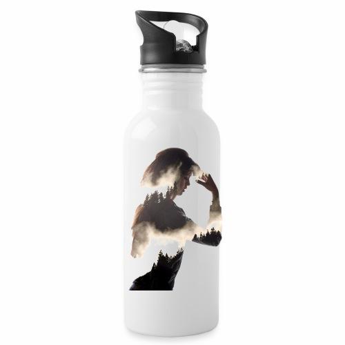 Lady Double Exposure - Water Bottle
