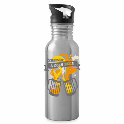 Drink a Cold Beer - Oktoberfest Volksfest Design - Trinkflasche