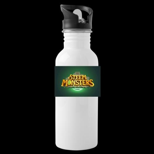 steem monsters - Trinkflasche mit integriertem Trinkhalm