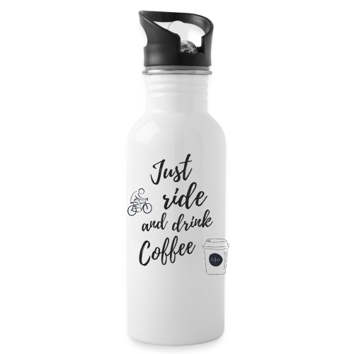 Just Ride & Drink Coffee - Water Bottle