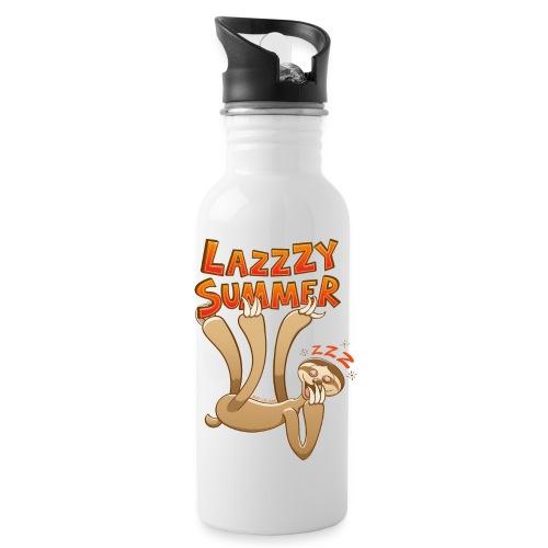 Sleepy sloth yawning and enjoying a lazy summer - Water Bottle