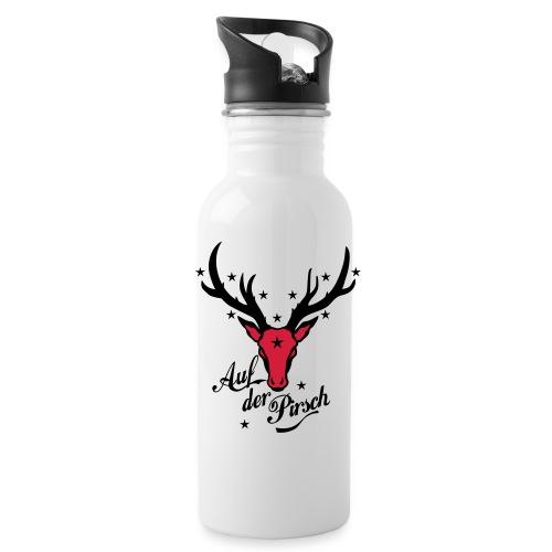 Hirsch auf der Pirsch - Trinkflasche