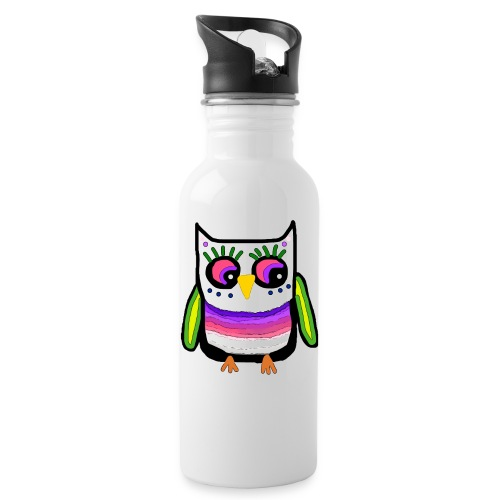 Colorful owl - Water Bottle