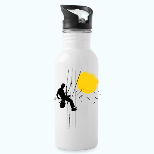 Minimal moon drawing - Water Bottle