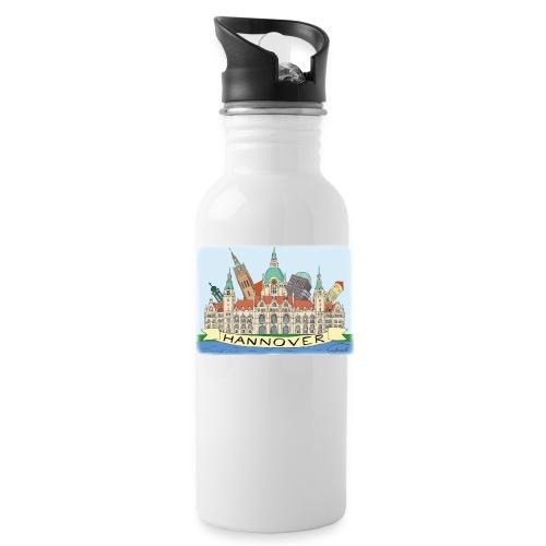 Hannover Rathaus Sehenswürdigkeiten Comic Style - Trinkflasche