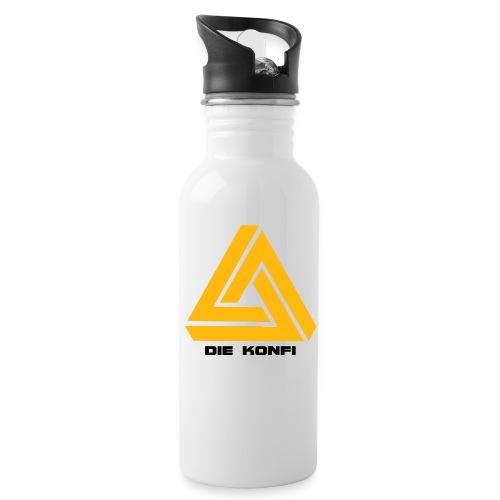 Die Konfi mit Gelb und schrift png - Trinkflasche