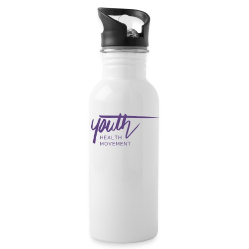 YHM purple logo RGB no background png - Water Bottle