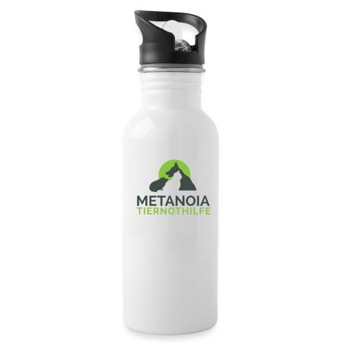 MetanoiaTiernothilfefinal png - Trinkflasche