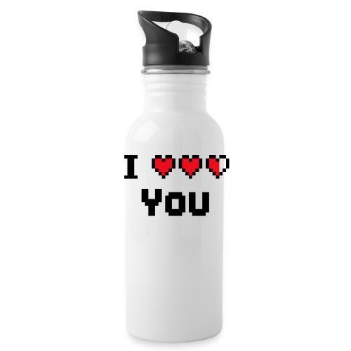 I pixelhearts you - Drinkfles