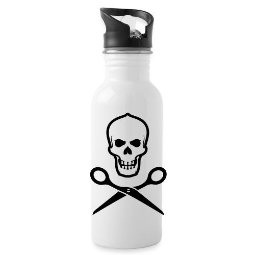 Totenkopf mit Schere - Trinkflasche