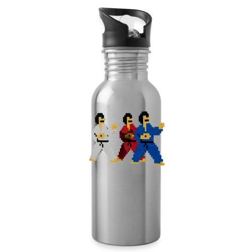 8 bit trip ninjas 1 - Water Bottle