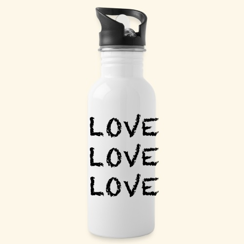 LOVE Black 001 - Trinkflasche