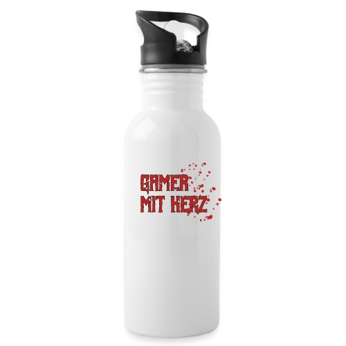 Gamer with heart - Water Bottle