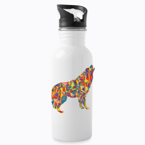 howling colorful - Water Bottle