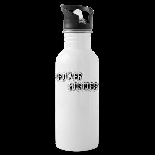 Aufschrift schwarz - Trinkflasche