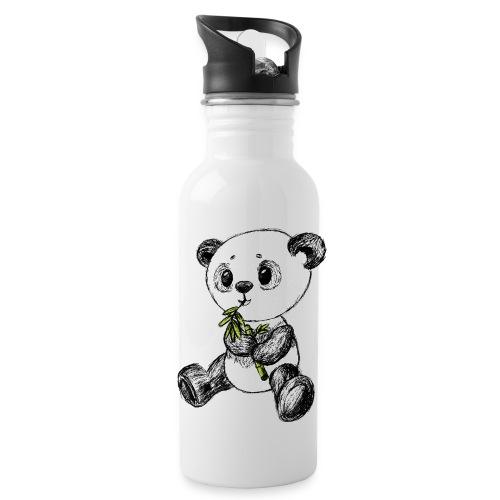 Panda bjørn farvet scribblesirii - Drikkeflaske