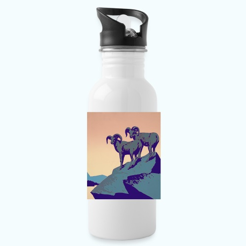 Vintage Capricorn Travel Poster - Water Bottle