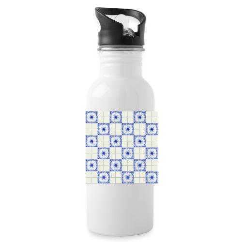 DutchieBlue1-Tile Pattern - Drinkfles