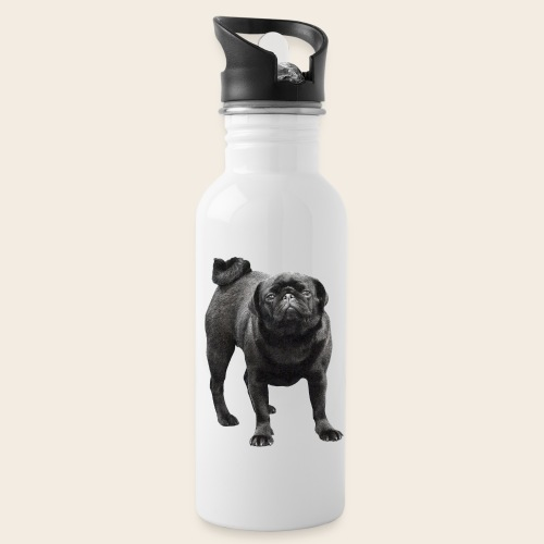 schwarzer Mops - Trinkflasche
