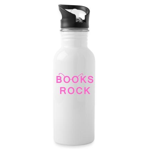 Books Rock Pink - Water Bottle
