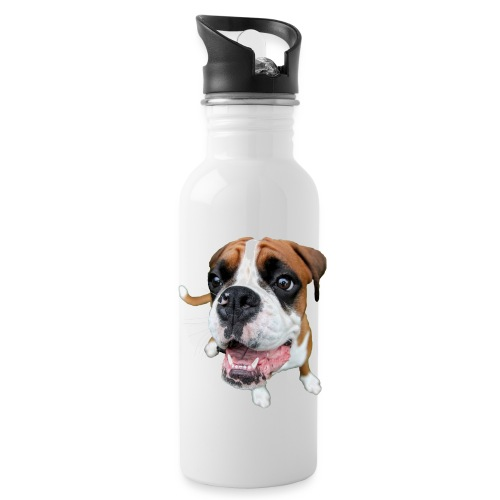 Boxer Rex dog - Water Bottle
